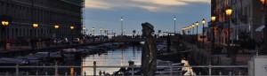 Statua di James Joyce sul Ponte Rosso a Trieste